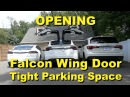 Tesla Model X - Falcon Wing Door in Tight Parking Spaces! 4K