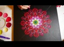 How to paint dot mandalas with Kristin Uhrig 15- Red Dahlia