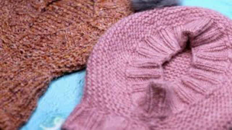 ШАПКА-ШЛЕМ ДЕТСКАЯ 🎄мастер класс🎄9-12 мес / Вязание Knit Mom