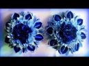 Flower Kanzashi Master Class hand made DIY Канзаши МК зефирка резиночки с Васильками