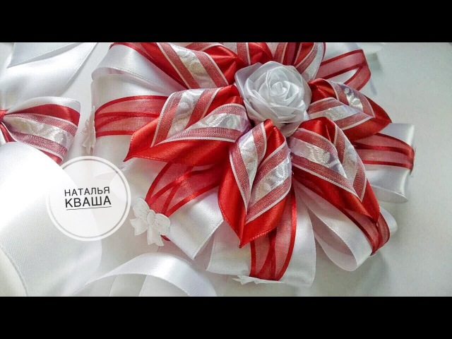 Бант на выписку из роддома своими руками МК DIY Ribbon bow Laço para o bebê
