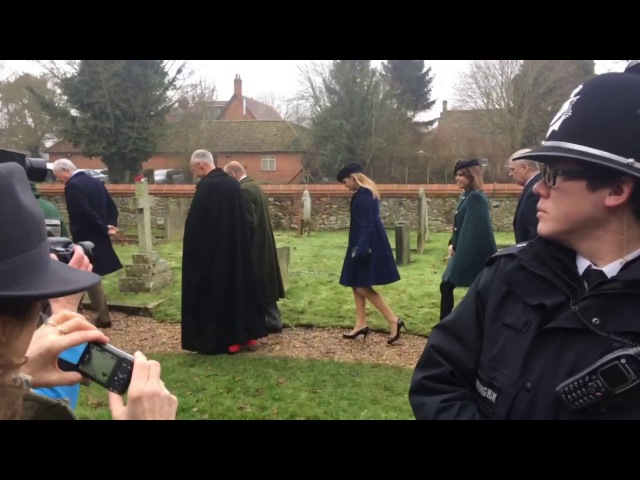 The Queen attends service in Castle Rising