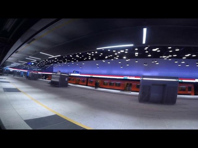 Поездка по новым станциям хельсинского метрополитена 12.2017