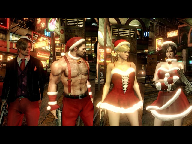Mod Showcase 43 - Resident Evil 6 - Christmas outfits by blabit and arch