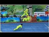 1st China National Wushu Games 第一届全国武术运动大会 Men Duilian Chongqing Team 重庆 梁家耀 周维 翟钰博 9.60