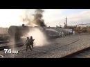 Произошла утечка хлора в Челябинске. Спасатели в костюме Стрелец КИО оранжевого цвета