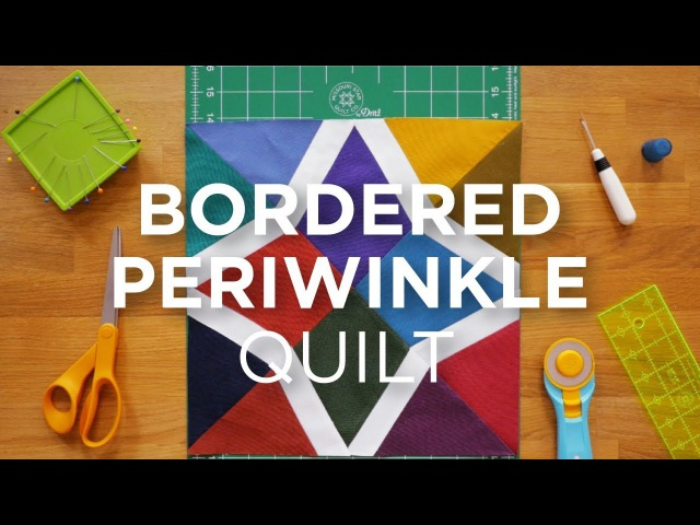 Quilt Snips Mini Tutorial - Bordered Periwinkle