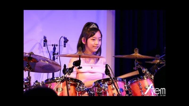 Drums Kanade Sato (14YRS OLD)  佐藤奏(ドラム)セカンドライブより Island Magic (Cover)