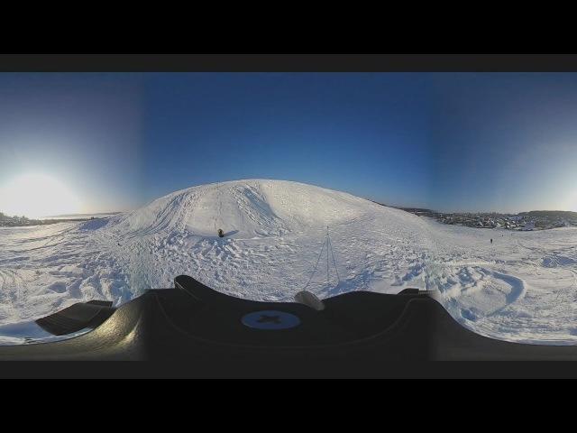 Timelapse Нытва (Nytva) Зима 2018 Eken pano 360