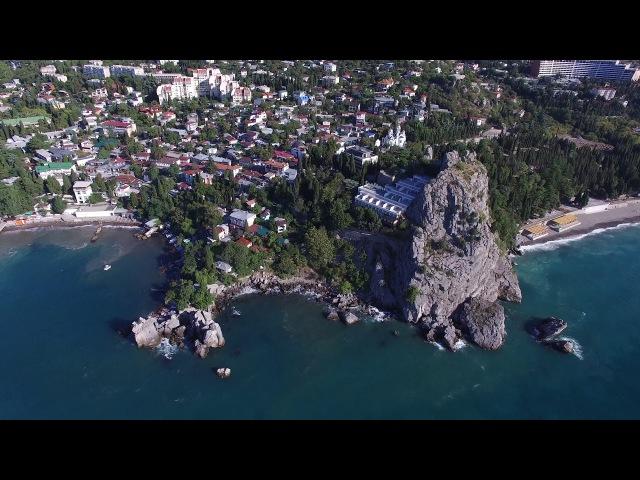 Россия Крым Гурзуф и Медведь-гора 4K (DJI Phantom 3 Pro)