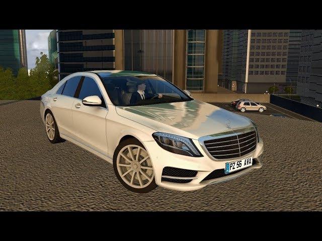City Car Driving 1 5 Mercedes Benz S63 V8 AMG W222 2015 Download LINK 1080p G27