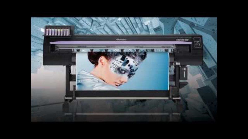How does Mimaki CJV 150 130 print and cut for advertising