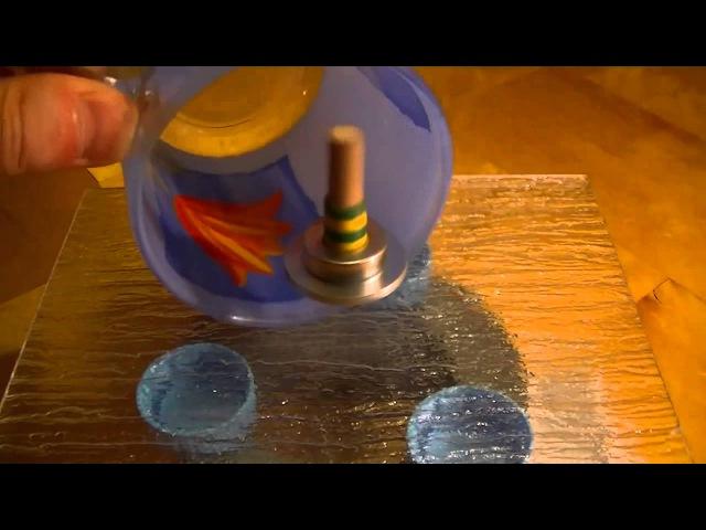 Левитация магнитного гироскопа в неоднородном магнитном поле кольцевого магнита
