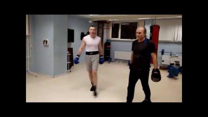 Бокс. Тренировка выносливости на лапах. 118 ( Конкин И.) FIGHTME.RU