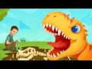 Динозавры Раскопки Юрского Периода.Приключения Начинаются.Мультик Игра про Ди ...