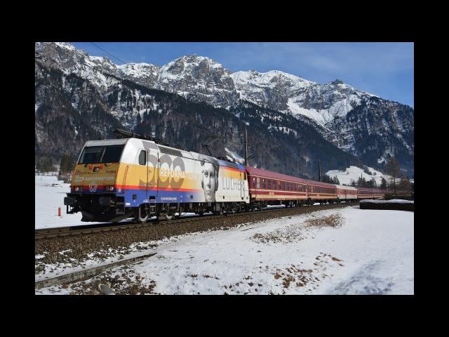 Arlberg Bahnverkehr am 03.03.18 – Luther Lok am Schnee Express