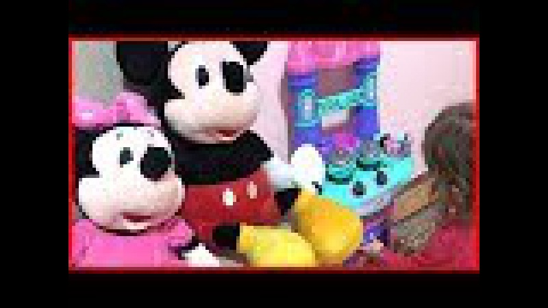 Cemre Su Anne Mini Mouse ve Miki Mouse Oyuncak Mutfağımızda Yemek Hazırladık Kız Çocuk Oyunları