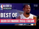 BEST of Warriors Curry Durant Thompson Green in 2018 NBA All Star Game