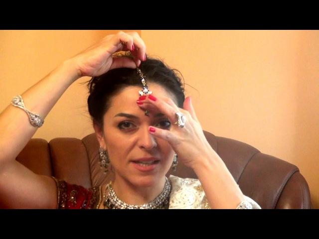 Индийские украшения. Тика - украшение на голову.