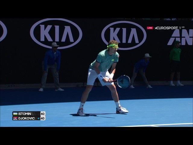 Денис Истоми-Новак Джокович(Denis Istomin vs Novak Djokovic) 19.01.2017
