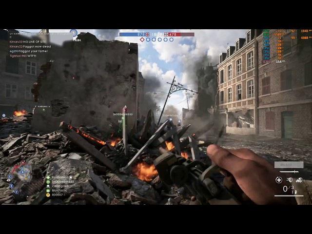 Battlefield1 i5-8600k @ 5.0GHz (Air cooled) GTX1080ti FE 1080p Ultra