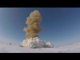 Пуск модернизированной ракеты российской системы ПРО