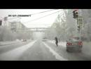 Водитель чуть не сбил пешехода в Якутске.