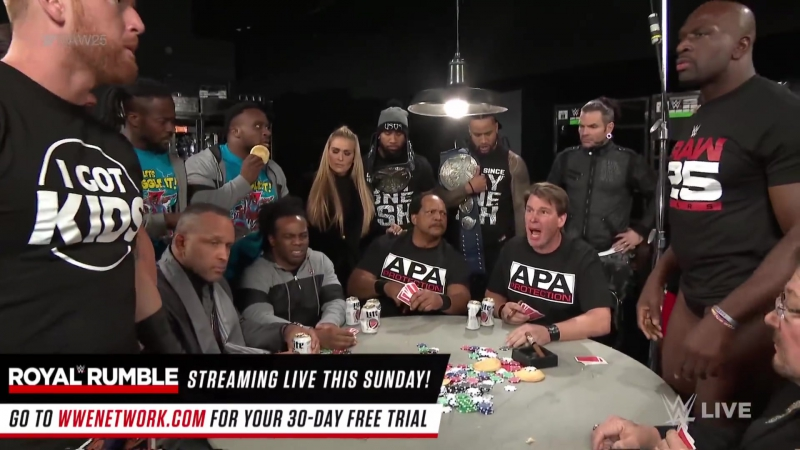 The APA host a poker game Raw 25 Jan 22 2018
