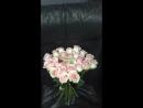Нежно розовые Розы 25шт