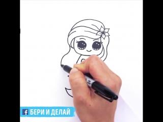 Как нарисовать русалочку Ариэль