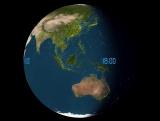 Невероятное движение воздушных рейсов на земле за 24 часа