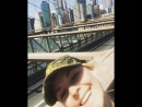 Ran the Brooklyn Bridge before the eclipse! Ready! ✅🌒