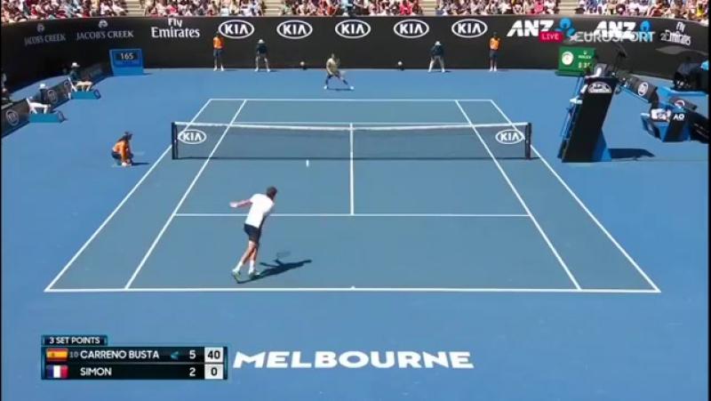 Пабло Карреньо на Australian Open 2018