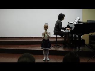 Юлиана, блок флейта, Колыбельная В.А. Моцарт