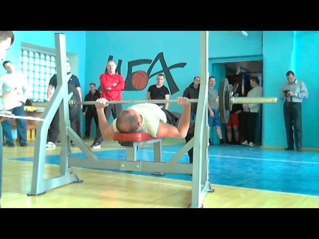 Алимпиев Д русский жим 55 кг на 35 повт, СВ=76,05, 05 11 14