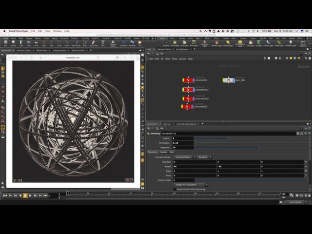 Escher in Houdini: Concentric Rinds