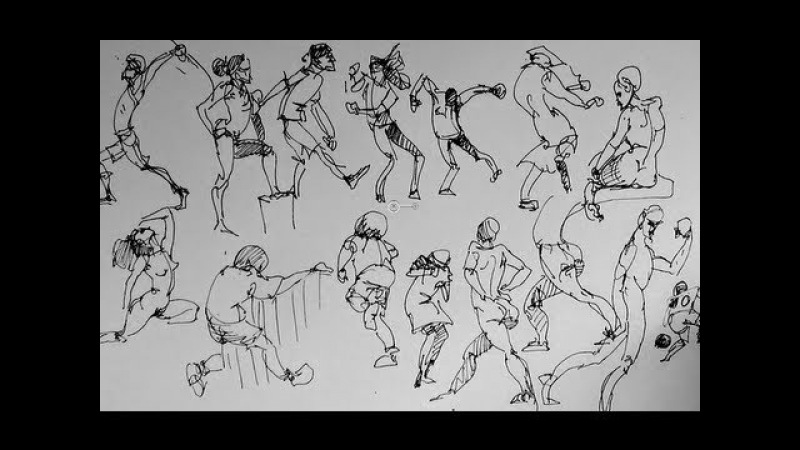 How to sketch draw people Part 2   Gesture Drawing