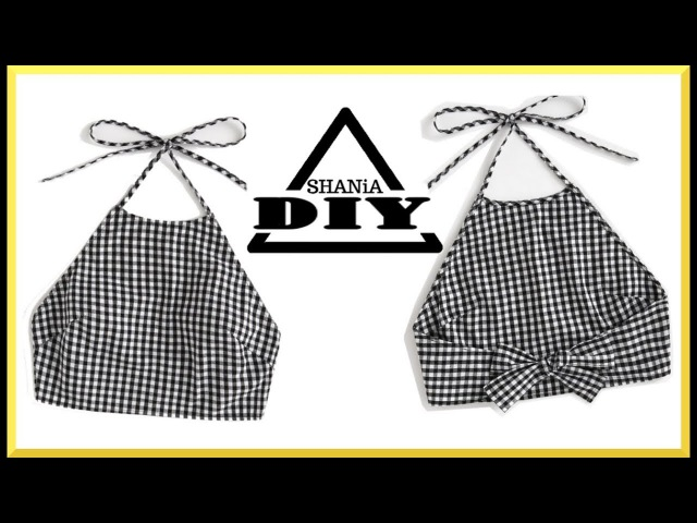 How to make a Gingham Crop Top    SHANiA