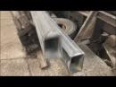 Как делают из круглой трубы квадратную