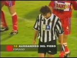 Алессандро Дель Пьеро. Красные карточки