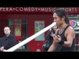 Shibaten - Amazing Didgeridoo Busker 24 - Toronto Dundas Square - Nov 2009