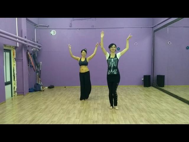 Sunanda duet combo. ASWAT/Arabic hip twist flourish/Triangle step in Duets
