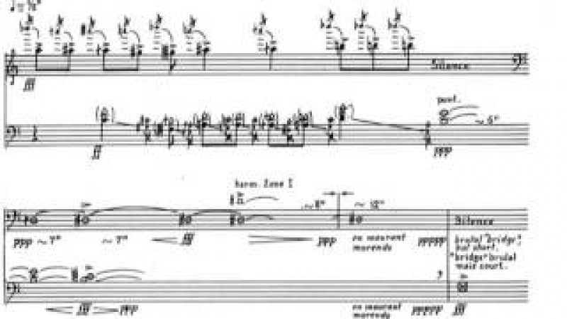 Iannis Xenakis Charisma for Clarinet and 'Cello 1971 Score Video