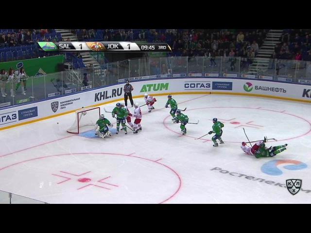 Моменты из матчей КХЛ сезона 16/17 • Гол. 1:2. Хухтала Томми (Йокерит) забрасывает шайбу в ворота соперника 08.09