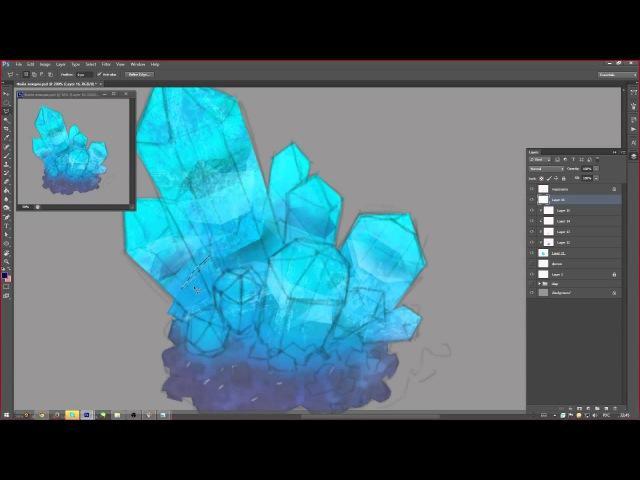 Урок 1 - как рисовать кристаллы