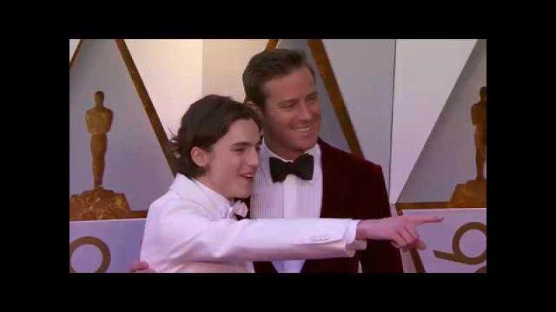 Oscars 2018 Arrivals Timothée Chalamet and Armie Hammer