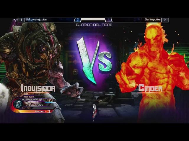 Killer Instinct Ultra Tournament - GyrateJupiter (G. Raam, Arbiter) vs Santopotter (Combo, Cinder)