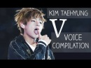 BTS V vocal range / VOICE COMPILATION (Kim Taehyung)