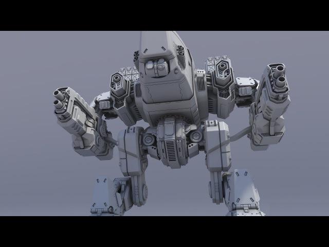 Zbrush Hard surface Zmodeler robot mech (PART1)