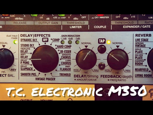 TC Electronic M350 All Effects | Drums, Vocals Guitar
